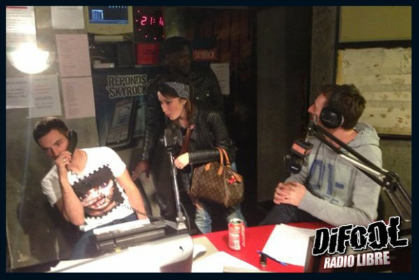 H magnum et Kenza Farah dans la radio libre