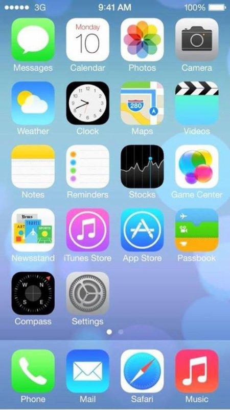 La nouvelle de iOS7 pour Iphone et Ipad