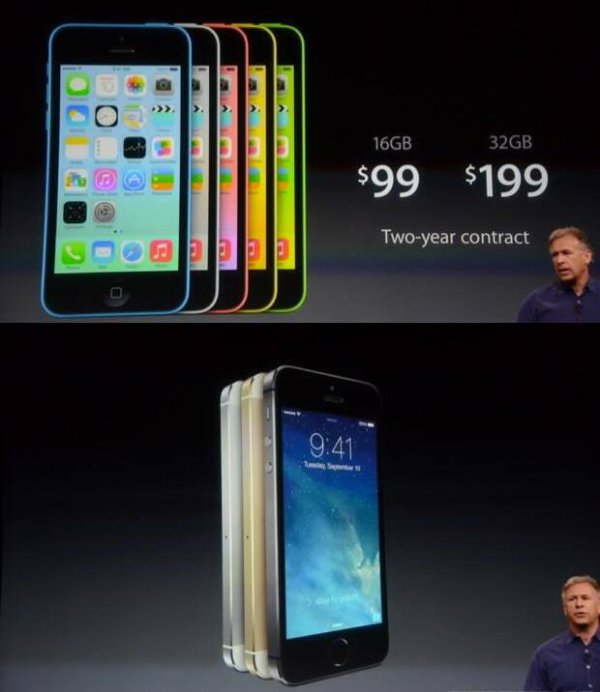 Le nouvel iPhone 5C et 5S
