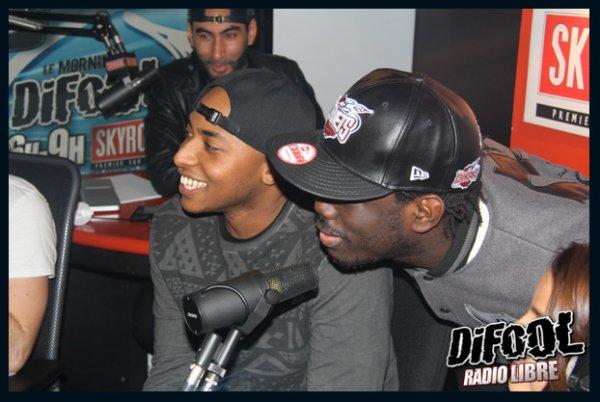 La team Bs dans la Radio Libre de Difool
