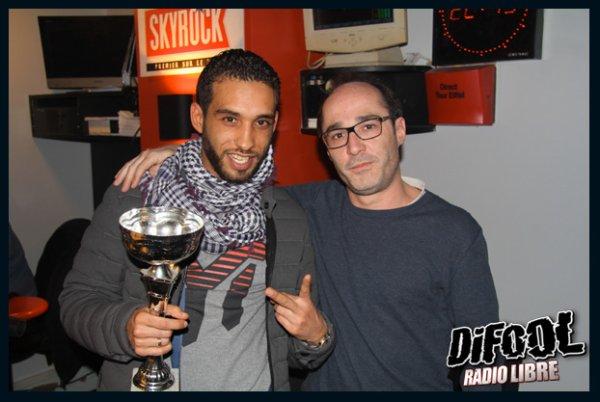 Romano avec Mister You après sa victoire au Clash