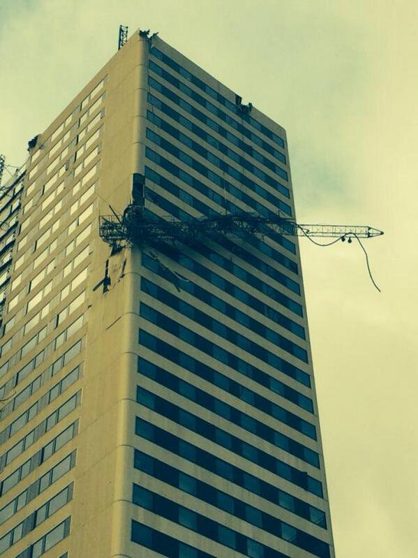 L'antenne Skyrock après la tempête !