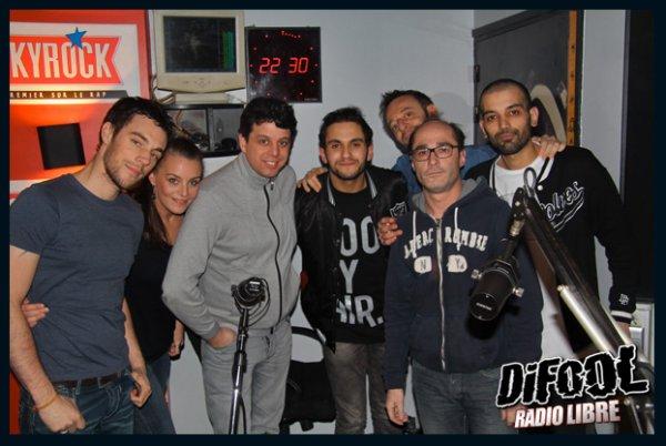 Les membres de la Radio Libre avec Malik Bentalha !!!!