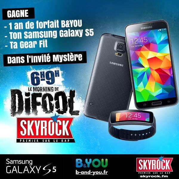 TON SAMSUNG GALAXY S5 A GAGNER DANS LE MORNING