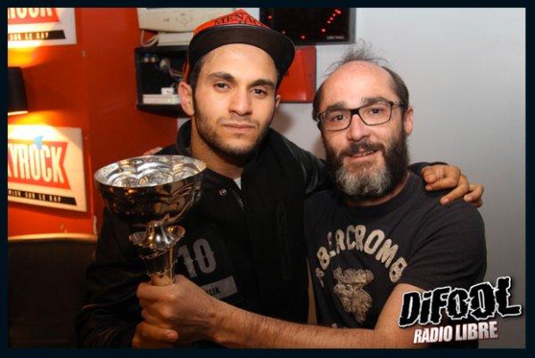 Romano avec Malik Bentalha après sa victoire au Clash De La Drague !