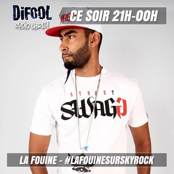 Ce soir, Difool reçoit La Fouine en direct !