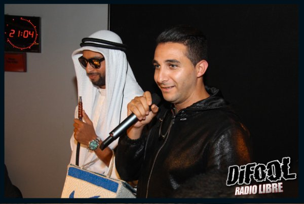 L'Algérino et le Prince Temenik 2 dans la Radio Libre de Difool !