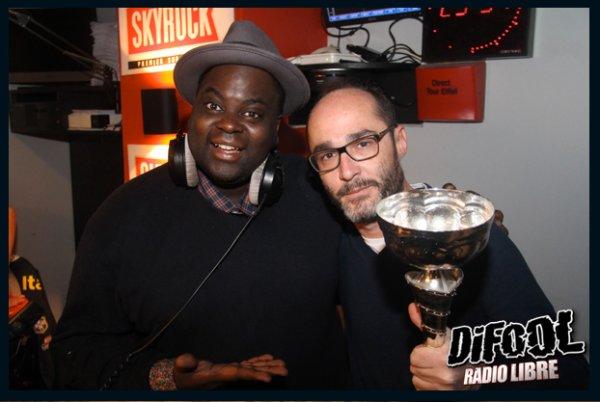 Romano en compagnie d'Issa Doumbia après sa victoire au Clash De La Drague