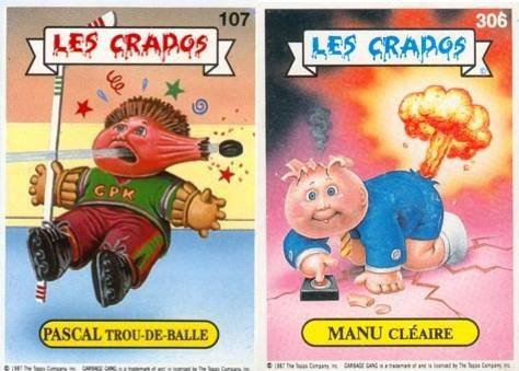 """Les autocollants """" Les crados"""" ça rappelle à Romano son enfance! Normal"""