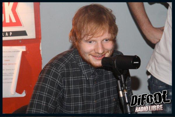 Ed Sheeran dans la Radio Libre de Difool !