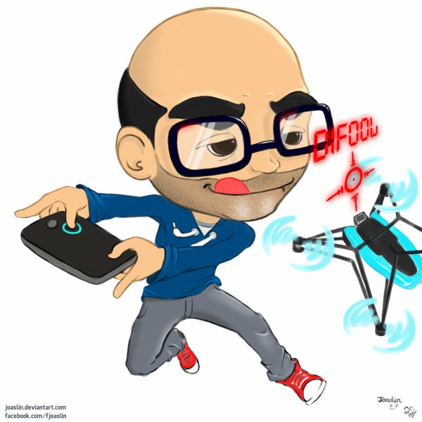 Magnifique dessin de Romano avec son drone !