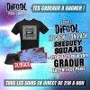 Difool t'offre ton t-shirt + bob SHEGUEY SQUAAD  et tes places pour aller voir Gradur et 2Chainz en concert!  :)