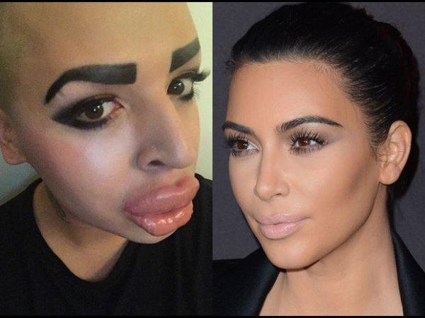 Il veut ressembler à Kim Kardashian