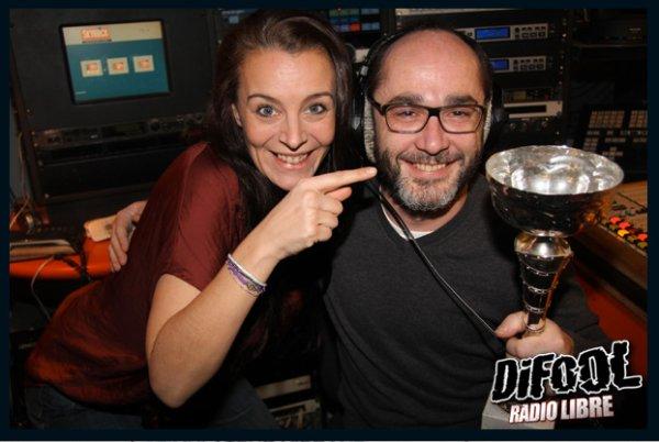Romano avec Marie après sa victoire au Clash de la Drague !