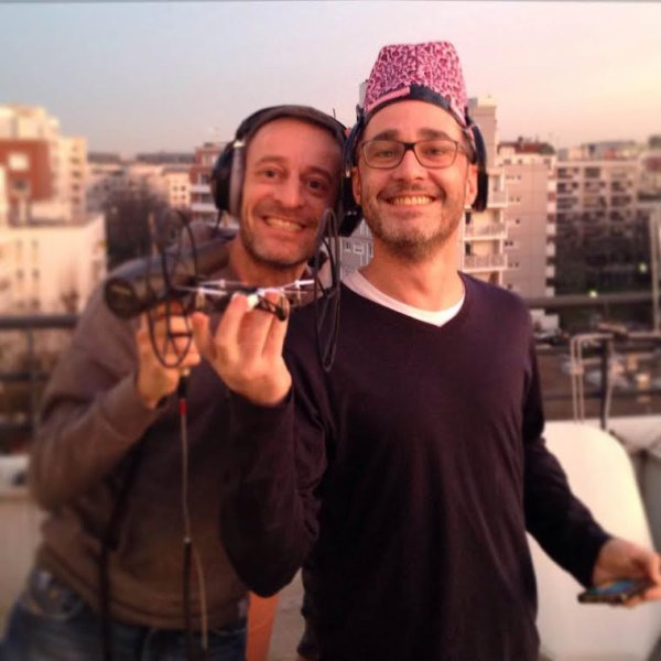 Difool et Romano juste avant le vol du drone ce matin dans le Morning De Difool !
