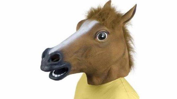 Ils effrayaient les passants avec une tête de cheval !