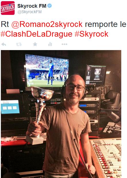 Victoire de Romano ce soir au clash de la drague !! ;) #RadioLibreDeDifool