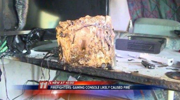 La Wii prend feu et brûle toute sa maison !