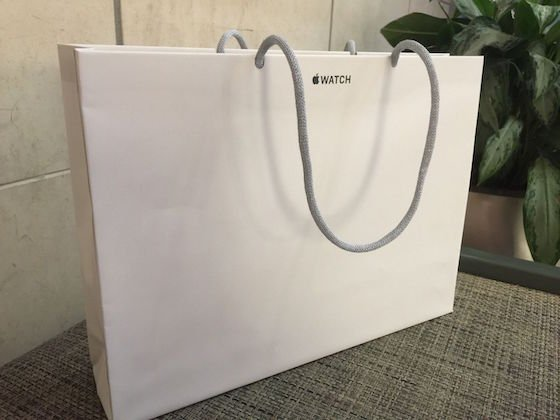 Le sac de l'Apple Store après l'achat d'une Apple Watch est en vente sur eBay !