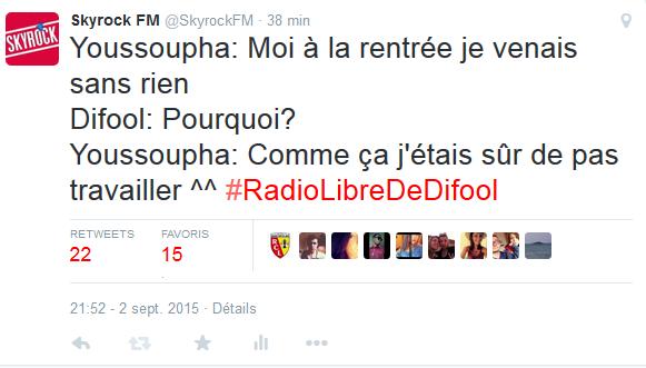 Youssoupha  était un de ces élèves la mdrrr! En tout cas c'est lui même qu'il a dit en direct tout à l'heure dans la #RadioLibreDeDifool