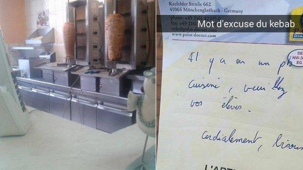 Le patron d'un kebab fait un mot d'excuse pour des lycéens en retard !