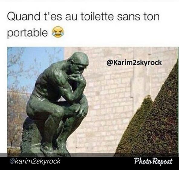 Quand t'es aux toilettes sans ton portable mdrrr #KarimComedyClub :p
