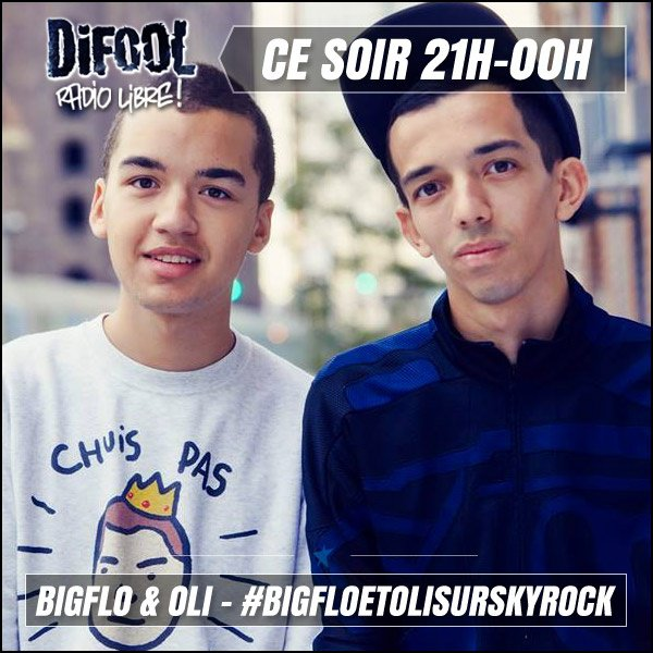 Ce soir, émission en compagnie de Bigflo et Oli !