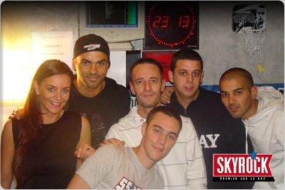 Tony Parker avec les membres de la Radio Libre !