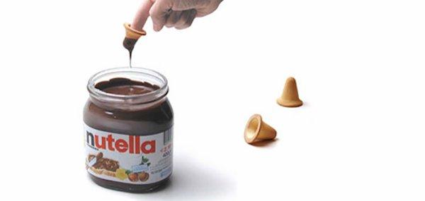 Un biscuit pour tremper ses doigts dans le Nutella !