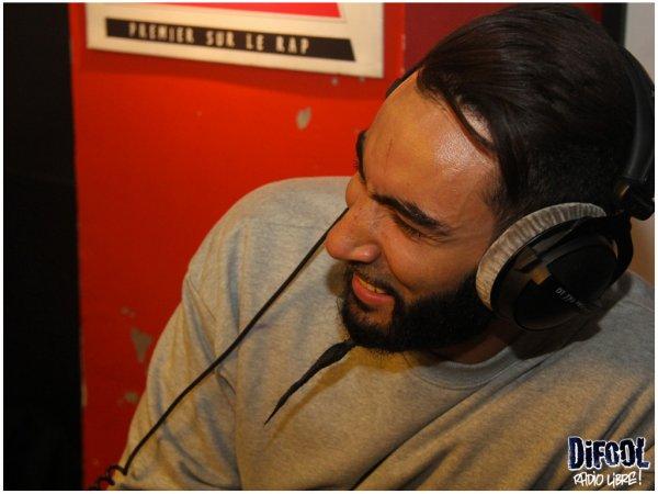 En photo la visite de la Fouine dans la Radio Libre !