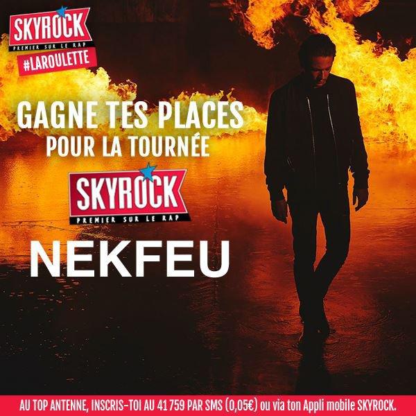 Les dernières places pour Nekfeu sont à gagner sur Skyrock! Qui les veut??