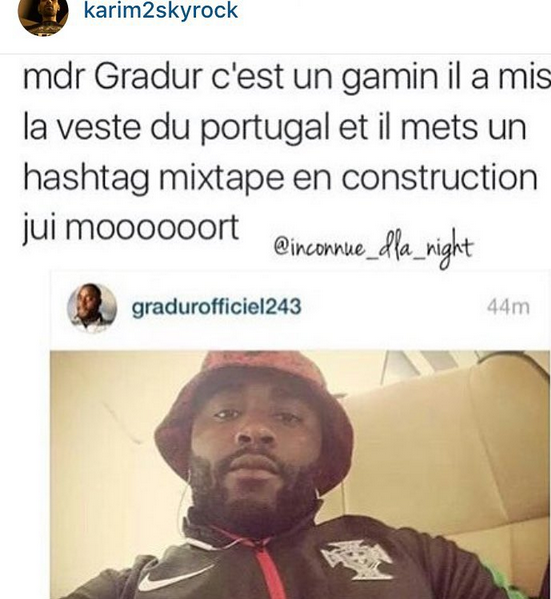 Force à Gradur de la part du Karim Comedy Club ! MDRR