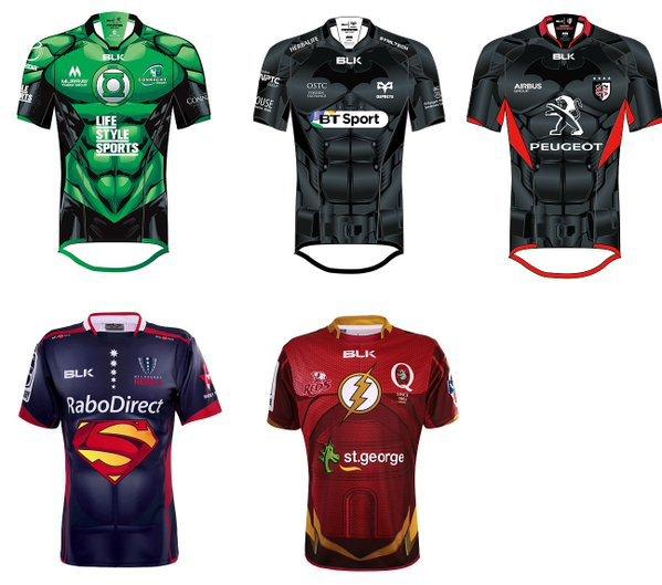 Des maillots de rugby aux couleurs des super-héros !