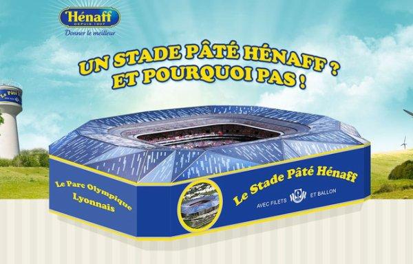 Et si le stade de Lyon s'appelait stade Pâté Hénaff ?