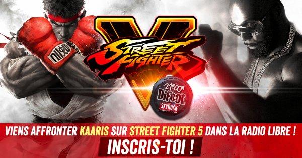 Viens affronter Kaaris lundi soir sur Street Fighter 5 dans la Radio Libre !