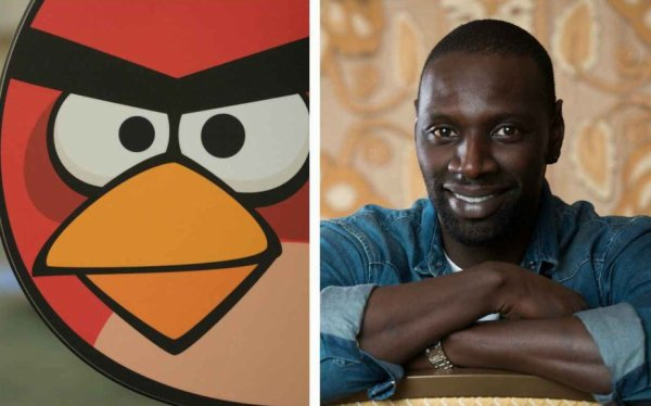 """Angry Birds - Le Film"": Omar Sy prête sa voix à l'oiseau Red"