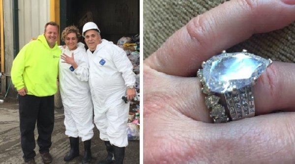 Une Américaine retrouve sa bague à 355 000 euros dans une benne à ordures !
