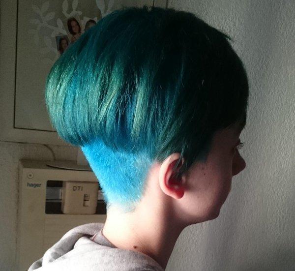 Interdite de collège à cause de ses cheveux bleus !