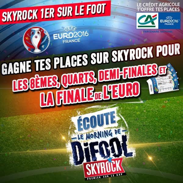 Le Morning De Difool t'offre des écrans et tes places pour l'Euro !