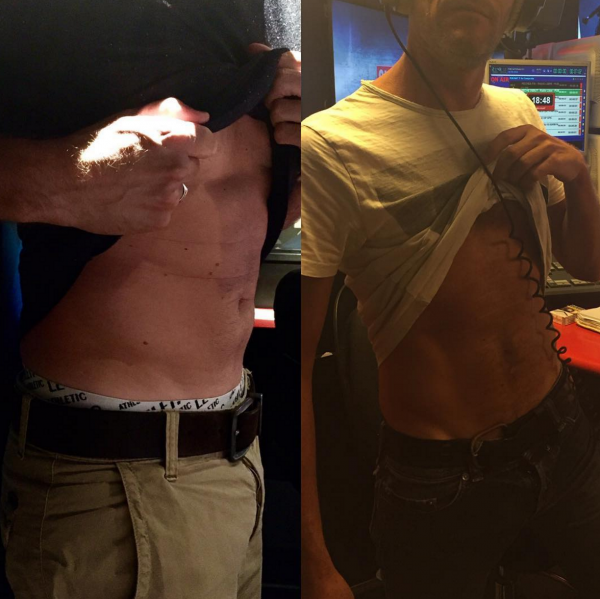 Voici les ventres des membres de l'équipe de la Radio Libre !