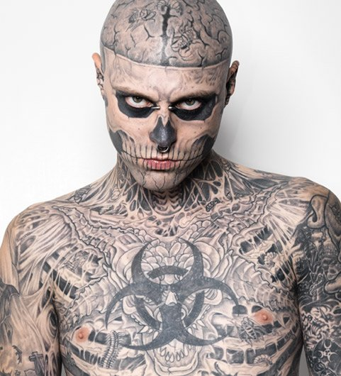 Voici Rick Genest alias Zombie...