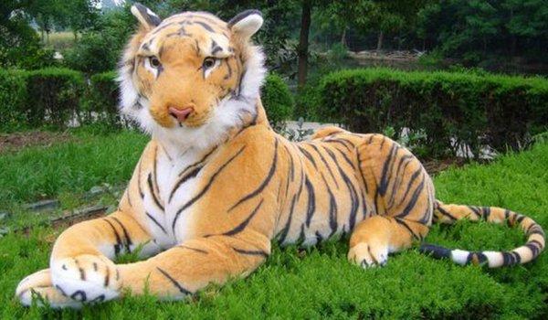 L'effrayant tigre était juste une énorme peluche !