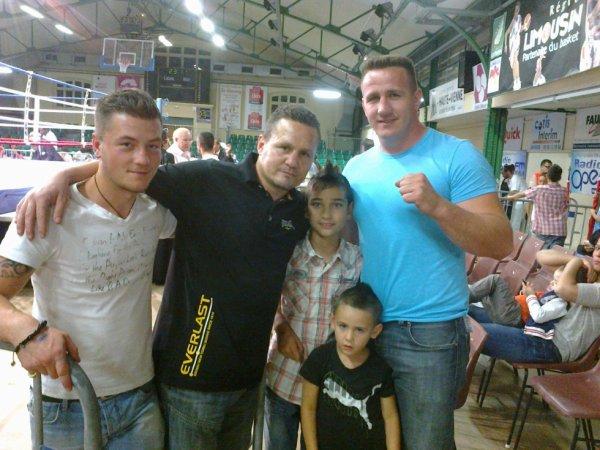 brian ,julien lorcy champion du monde de boxe,mon petit fils, aldo de limoges et son fils
