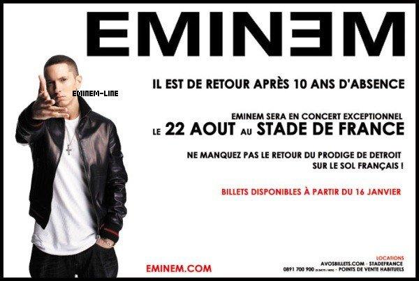 Stade de France Eminem - 22 aout 2013 !