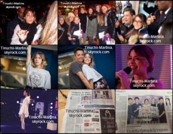 """Violetta live"""" le concert en Italie le 28-30-31/01/15 et 01-03-06-07/02/15."""