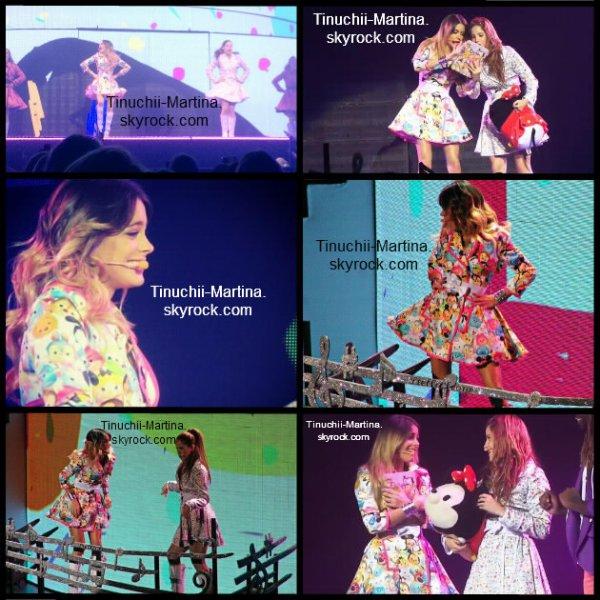 "Violetta:La danse des Tsum Tsum+Robe Tsum Tsum de Tini pendant les concerts de ""Violetta Live""."