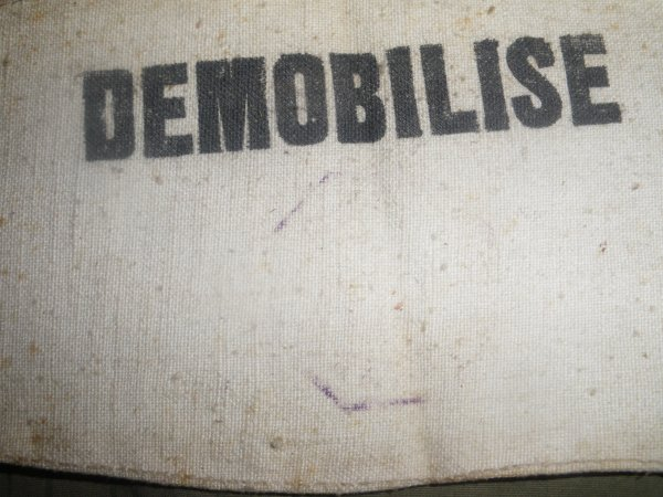 "Brassard ""DEMOBILISE"" ww2"
