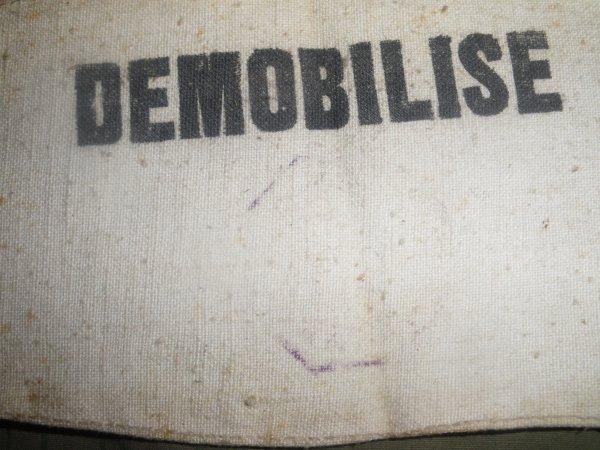 "Brassard ""DEMOBILISE"" ww2"