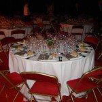 Velours rouge : toujours très classe lors d'une réception