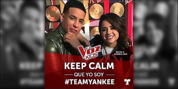 """Becky dans """"La voz kids"""" pour donner des conseils aux enfants de l'équipe de Daddy Yankee. """"La voz kids"""" est une émission mexicaine, qui est ici """"The Voice Kids"""". Becky a fait une apparition dont elle donne des conseils."""